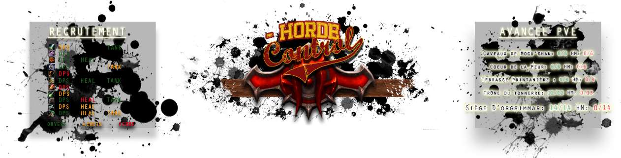 Horde Control Index du Forum